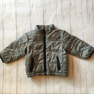 Baby Gap Gray Front Zip Lightweight Puffer Jacket